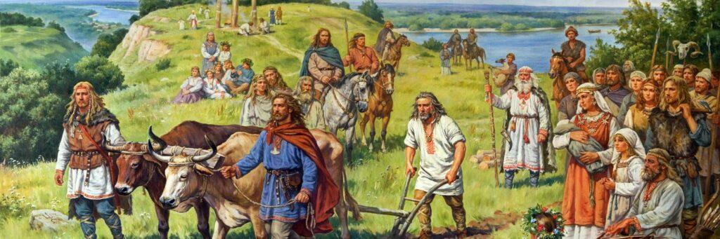 Движение славянских племен