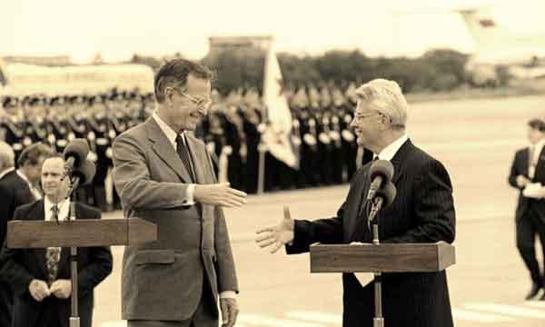 президент США Д. Джордж Буш и Леонид Кравчук