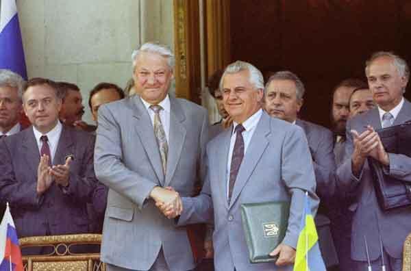 Кравчук и Ельцин